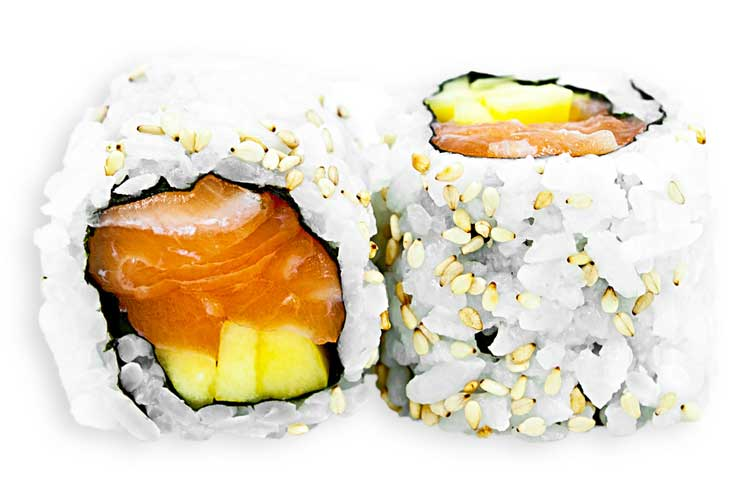 Salmon and Mango Roll (8)