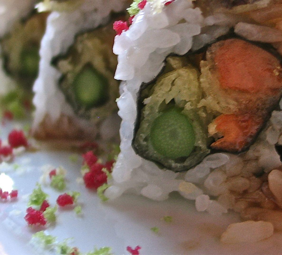 Yam and Asparagus Tempura Roll (8)