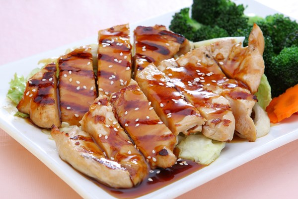 White Chicken Teriyaki Appetizer