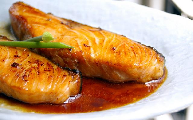 Salmon Teriyaki Appetizer